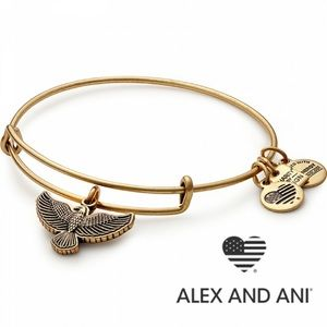 NWT Alex and Ani Spirit of the Eagle bracelet gold